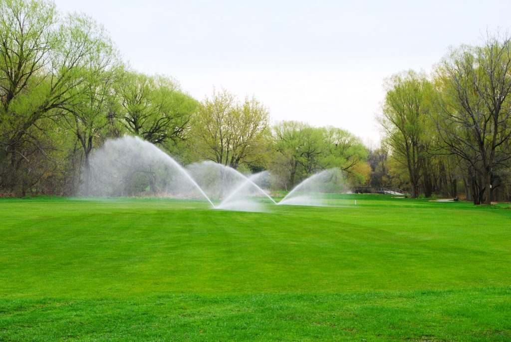 Moisture management improves on professional turf giving you a better green
